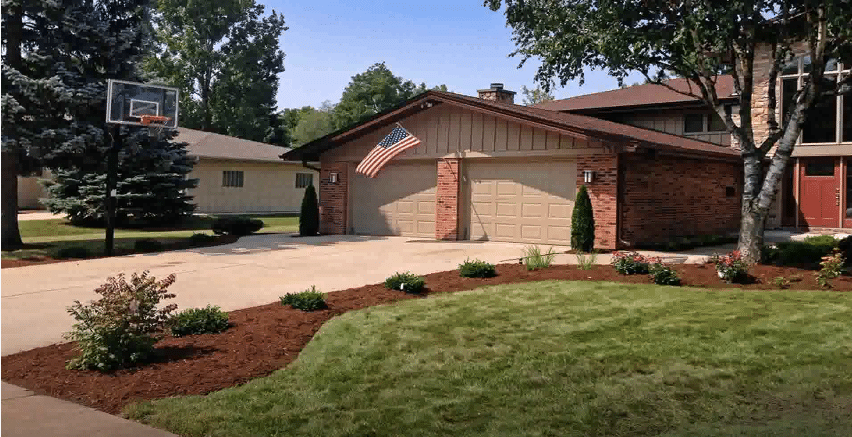 driveway completed project in ofallon